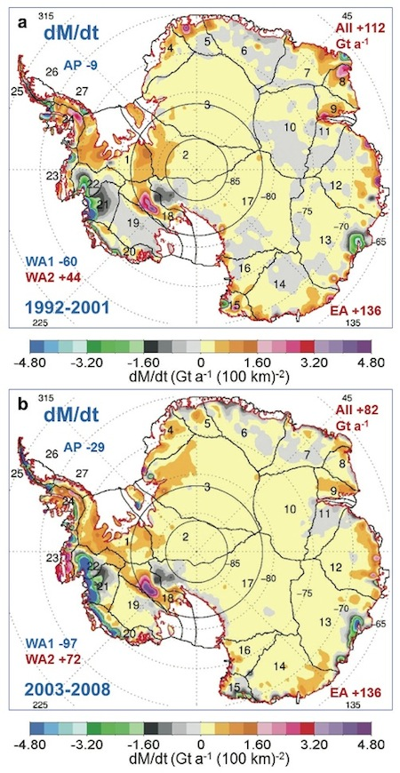 6Antarctic total mass changes