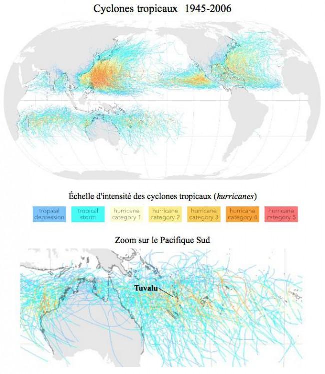 Carte cyclones