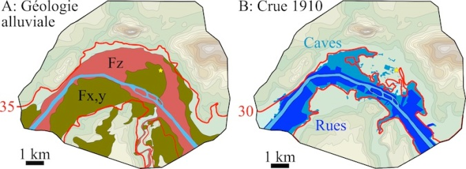Géologie crue Seine